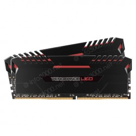 Barrette mémoire DDR4 Corsair Vengeance LED RED DDR4 2 x 8 Go 3200 MHz