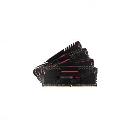 Barrettes mémoires 64GB Corsair Vengeance LED RED DDR4 4 x 16 Go 3000 MHz